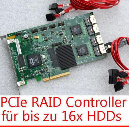 16x SATA Raid Pcie Controller LSI 3ware 9650SE-12/16ML For 8x Hdds To 4 TB HDD