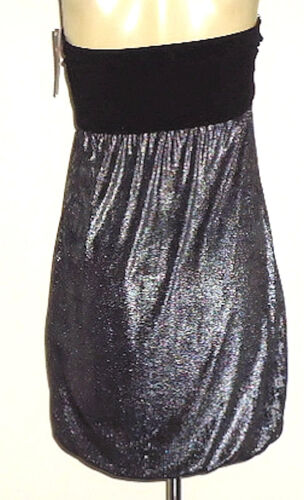 BACKSTAGE MetallicStraplessStretchPartyMicroMini Size8NWT