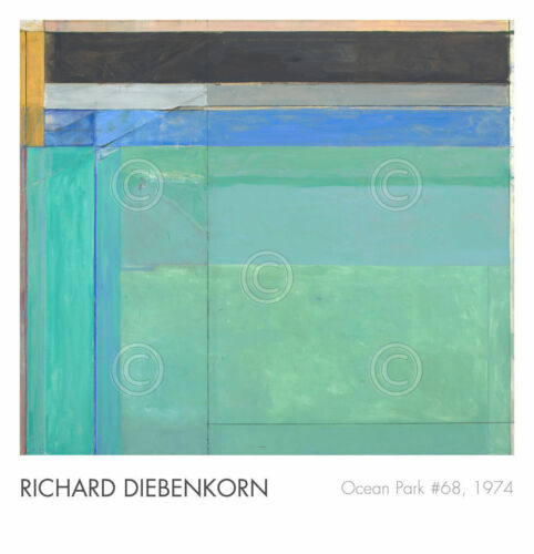 Ocean Park No. 68, 1974 by Richard Diebenkorn Abstract Art Print Poster 27x28