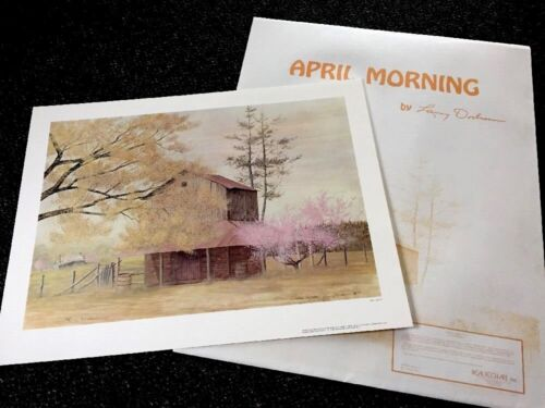 """Larry Dodson """"April Morning """" Ed 1500 Realism/1977 History <30"""" SO Lithograph"""
