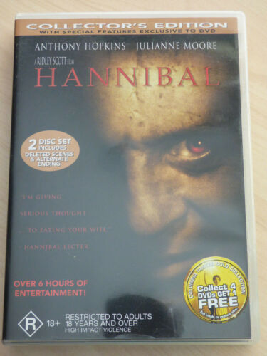 Hannibal 2-Disc Set Collector's Edition DVD Region 4 Anthony Hopkins
