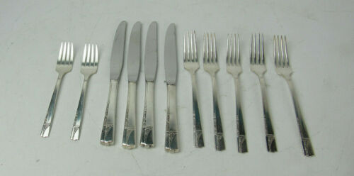 11 PC Oneida Nobility Plate CAPRICE Silverplate Flatware Knives Forks