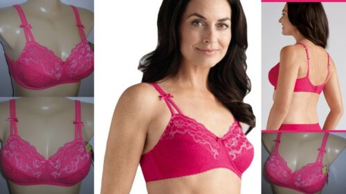 Amoena Karla Pink October Wire Free Mastectomy Bras Pocketed Cups SAVE $30.00!