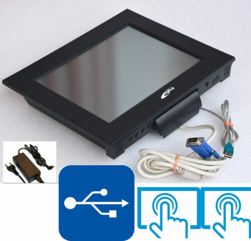 """Black Digipos 30.5 cm 12 """" Bis 1024x768 Monitor USB Touch Screen for Win XP 7 8"""