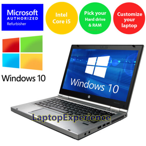 HP LAPTOP ELITEBOOK INTEL i5 16GB 1TB 512GB SSD HD DVD WINDOWS 10 WiFi NOTEBOOK <br/> CUSTOMIZE Your Laptop! PICK Your OS + RAM + Hard Drive!
