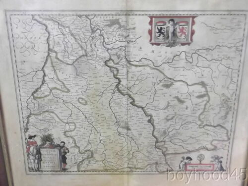 17th Century Map of Brabant by W. Blaeu