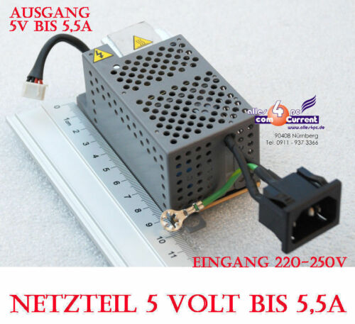 5V 5 Volt 5A Power Supply Adapter Also For Continuous Operation 25WATT 25W #N48