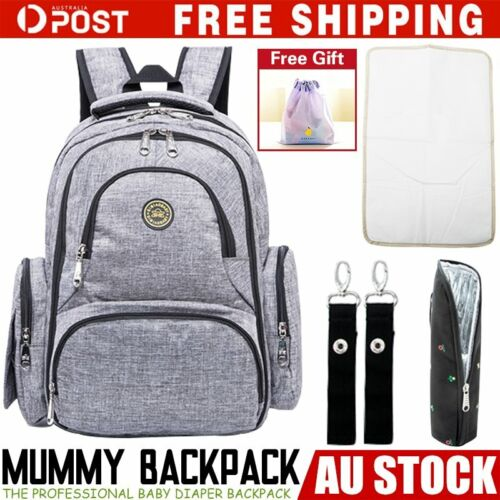 GENUINE QMBB Large Multifunctional Baby Diaper Nappy Backpack Mummy Changing Bag <br/> AU STOCK !! Fast Shipping!!