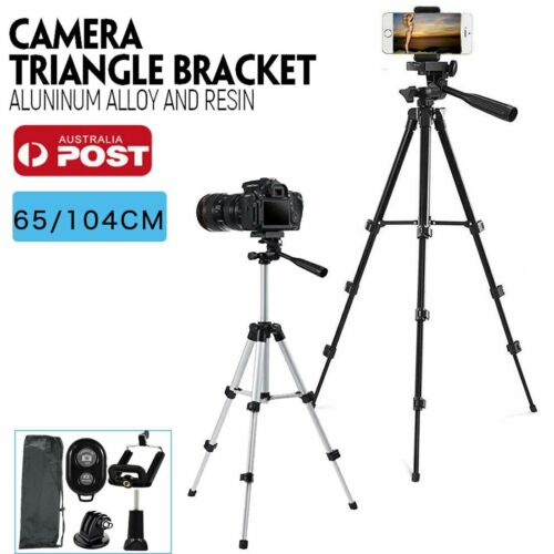 Professional Camera Tripod Stand Mount + Phone Holder for Phone iPhone Samsung <br/> AU Stock ! ! Provide Express Service ! !