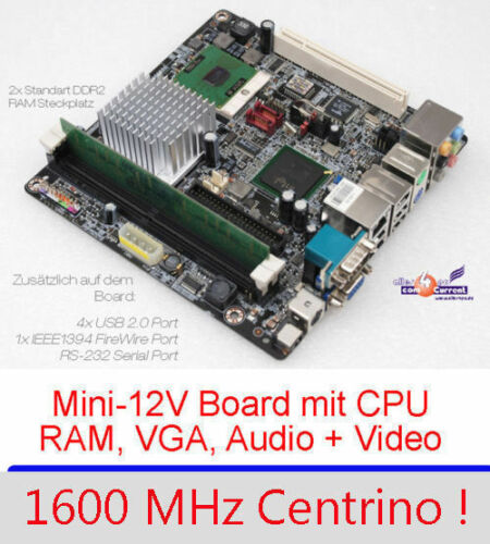 Motherboard Aopen i915GMt-FS VGA Svga-Out Incl. 1,6GHZ Intel CPU 1GB RAM Sound