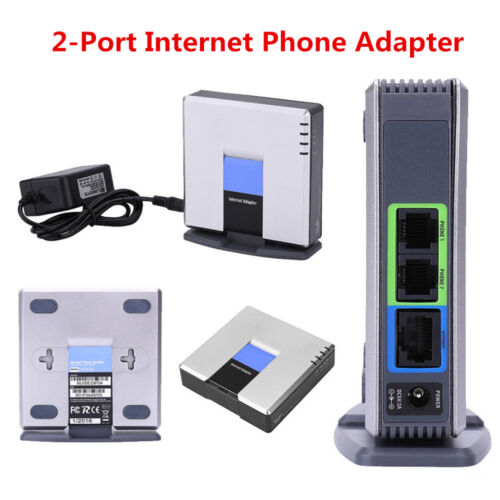Unlocked for Linksys PAP2T VoIP Phone Adapter W/ 2 Phone Ports Gateway SIP V2 DH