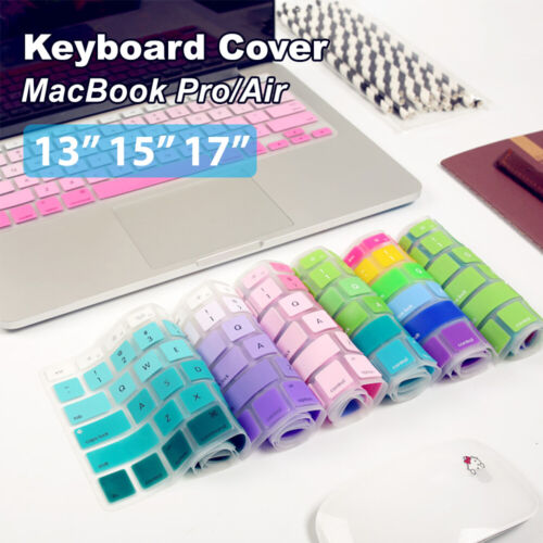 """Keyboard Cover Case Silicone Protector For MacBook Air/Pro 13"""" 15"""" 17"""" Touchbar"""