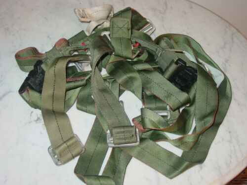 Military Parachute Harness Gear Olive Green w/ D Clips!Parachutes - 70990