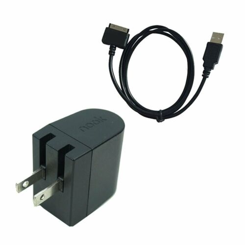 AC Wall Charger Plus USB Data Cable for Nook HD 7 Inch HD+9 Inch BNTV400 BNTV600
