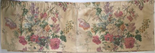 Beautiful 1930's French Cotton Floral Curtain Valance  (2693)