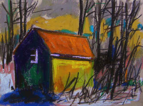 ORIGINAL Farm LANDSCAPE Pastel Painting JMW art John Williams Expressionism