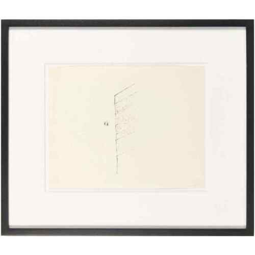 William Wegman, Two People and Building, Ink on Paper, 1973