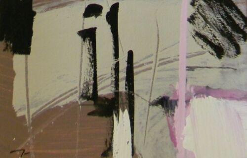 JOSE TRUJILLO Acrylic Painting Contemporary Abstract Designer Colors SIGNED 005