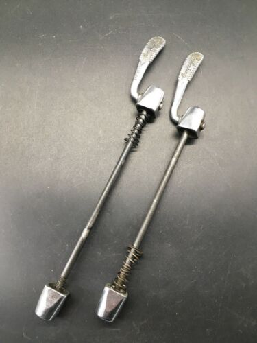 VINTAGE CAMPAGNOLO TRIOMPHE FRONT & REAR QUICK REALESE SKEWERS NOS C-RECORD ERA