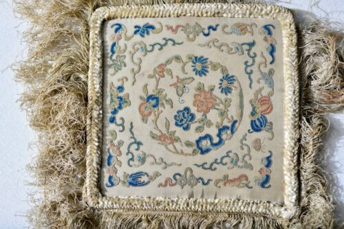 ULTRA FINE ANTIQUE CHINESE MICRO EMBROIDERY PANEL SILK TEXTILE FRAME
