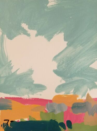 """JOSE TRUJILLO - LANDSCAPE ORIGINAL ACRYLIC on Paper PAINTING 9x12"""" - COLLECTIBLE"""