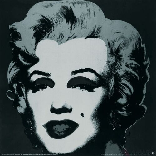 Marilyn Black (Small) - Andy Warhol Art Print Offset Lithograph Poster 25.5x25.5