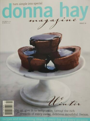 """Donna Hay Magazine #16 """"WINTER"""" Sweet Delicious Mouthfuls~VERY GOOD~Dis $'s 2+"""
