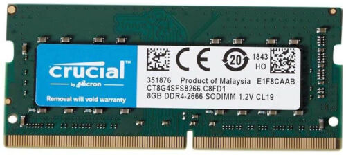 Crucial SODIMM DDR4 8GB 2666MHz RAM Memory Notebook/Laptops 1.2V CT8G4SFS8266