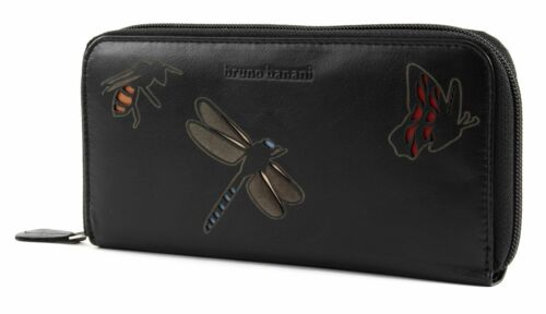 bruno banani Insect Zip Around Wallet Black