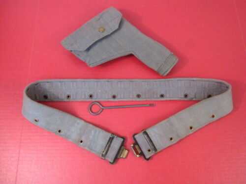 post-WWII British RAF Canvas Holster & Belt for Browning Hi Power Pistol - 1951Personal, Field Gear - 156424