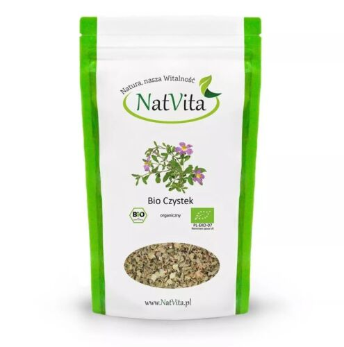 NatVita 100% ORGANIC CISTUS INCANUS Cleansing Herb (CZYSTEK)- CHOOSE WEIGHT!