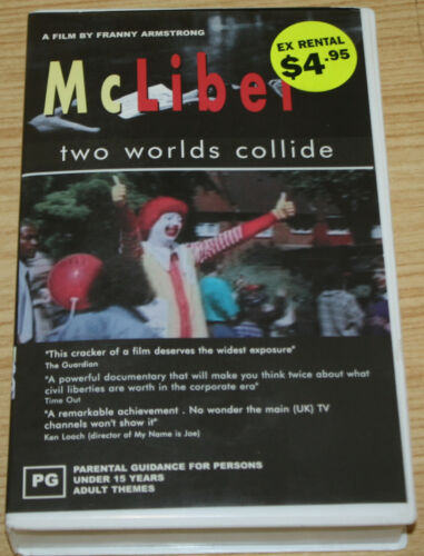McLibel Two Worlds Collide VHS