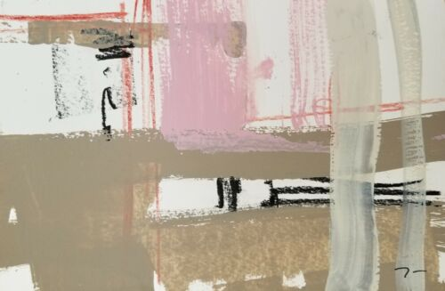 JOSE TRUJILLO - Acrylic Painting Contemporary Abstract WORKS ON PAPER DECORATIVE