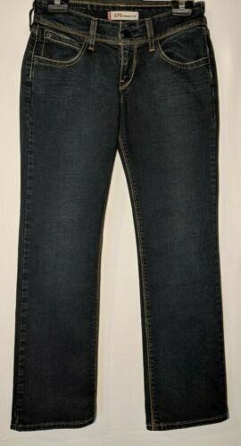 """WOMEN'S LEVI'S JEANS 570 STRAIGHT FIT STRETCH BLUE SIZE 10 INSEAM 29"""""""