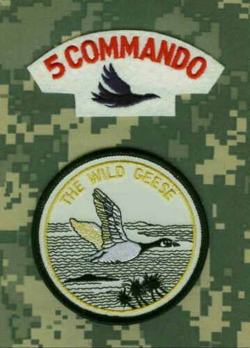Congo Colonel Thomas Michael Hoare Mad Mike 2-patch Set: Wild Geese + 5 Commando