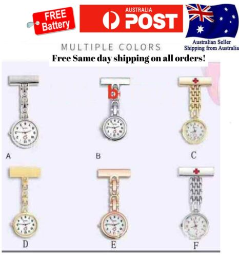 fob nursing metal pendant pocket doctor nurse watch with extra battery battery