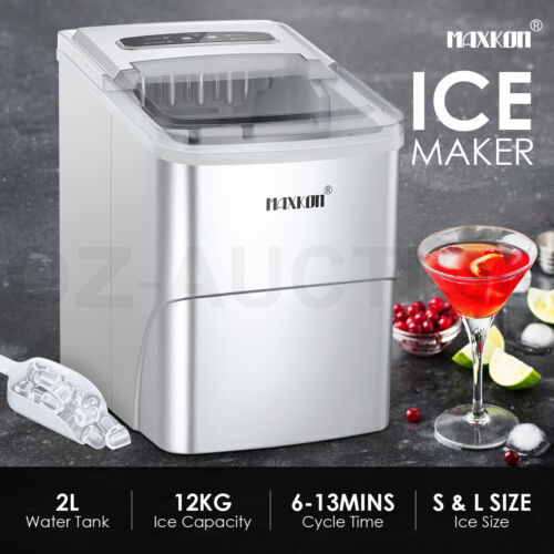 MAXKON Ice Maker Machine Portable Commercial Ice Cube Tray Bar Countertop