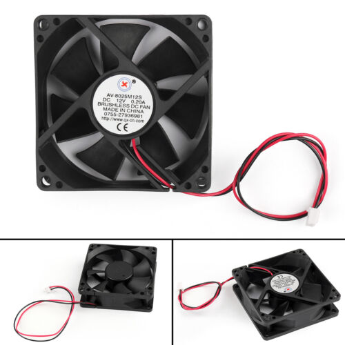 10Pcs DC Brushless Cool PC Computer Fan 12V 8025S 80x80x25mm 0.2A 2 Pin Wire AU