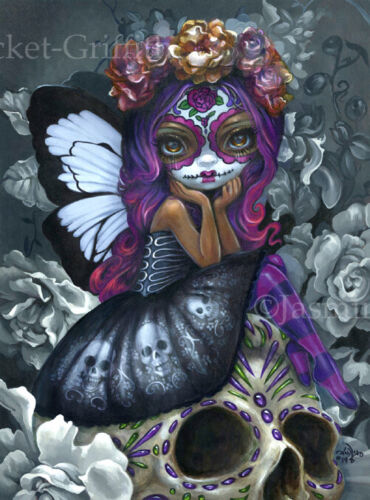 Jasmine Becket-Griffith art print SIGNED Soulful Spirits I day of the dead fairy