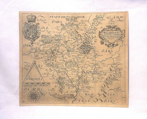 MAP OF FORDIA - EARLY COPY AFTER JOHN SPEED WITH DESCRIPTION ON BACK -BEST OFFER