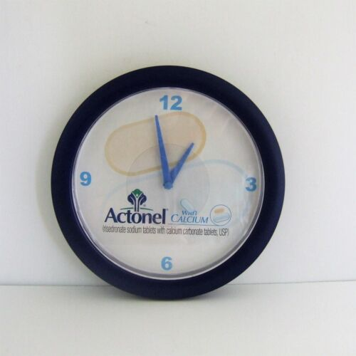 Apothecary Pharmacy Drugstore Promo Actonel Battery Wall Clock