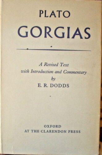 BOOK PLATO GORGIAS 406 PAGES FIRST EDITION