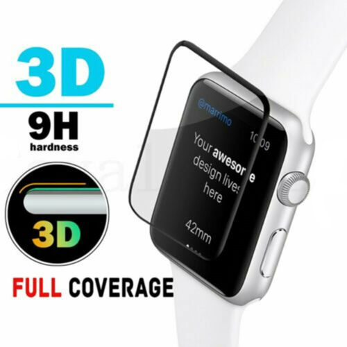 FULL COVER Tempered Glass Screen Protector For Apple Watch 38&40&42&44mm iWatch <br/> ❤️1x Piece OT 2x Tempered Flm❤️Apple Series 1 2 3 4 5❤️