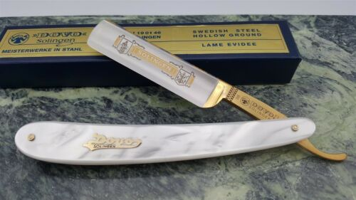 Dovo Classic style MOP Mother of Pearl handle Straight Razor Made in Germany