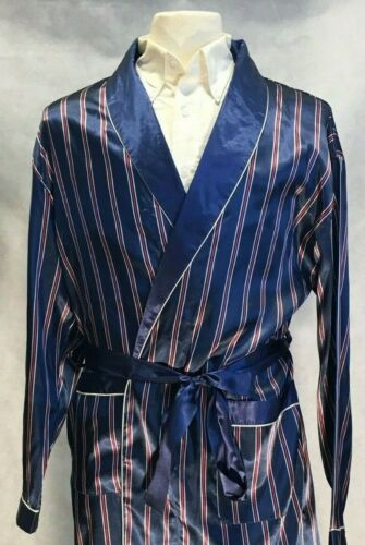 Mens Silk Satin Robe   - Designer High Quality  <br/> USA SELLER - FAST SHIP - BLOWOUT PRICE - Orig Price $49