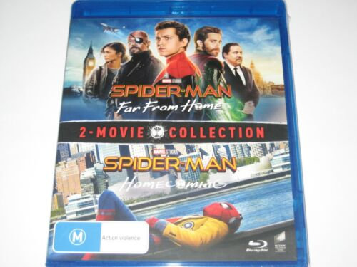 SPIDER MAN FAR FROM HOME + HOMECOMING 2 movie BLU-RAY RB NEW/SEALED