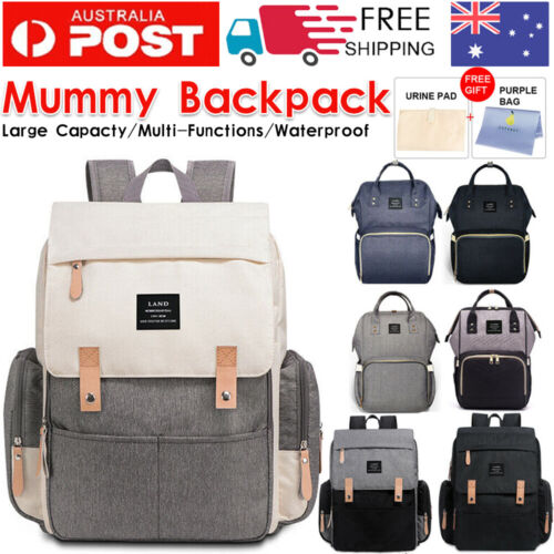 GENUINE LAND Multifunctional Baby Diaper Backpack Changing Bag Nappy Mummy AU <br/> ☆ Express Provide☆ EXtra 10% OFF ☆ GENUINE LAND BRAND ☆