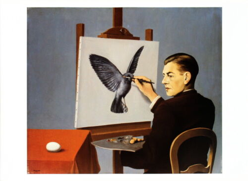 La clairvoyance by Rene Magritte Art Print Easel Painting Bird Poster 20x27.5