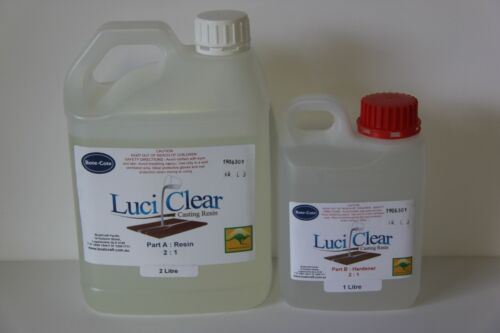 LuciClear 3 Litre Epoxy casting resin kit. Clear casting resin. River tables.
