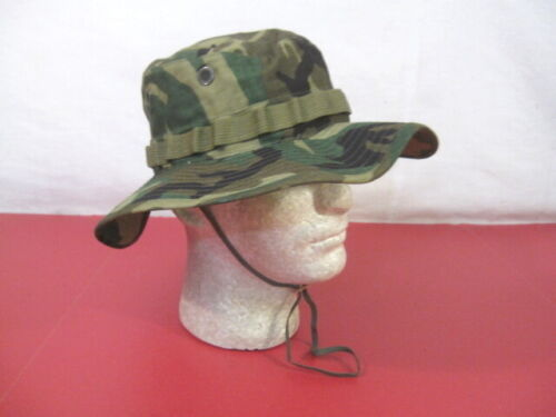 Vietnam US Army ERDL Camouflage Ripstop Boonie Hat - Size 7 - MINT UnissuedReproductions - 156445
